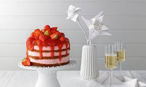 kleine erdbeer käse sahne torte