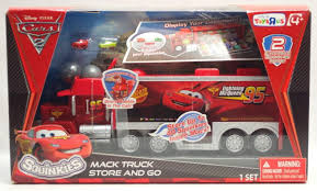 100 Cars 2 Mack Truck DISNEY CARS MOVIE SQUINKIES MACK TRUCK STORE AND GO TOYS R US