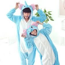 Pink Unicorn Pajamas Sets Flannel Animal Winter Nightie Stitch Unicornio Sleepwear For Women Men Adults Unisex Homewear