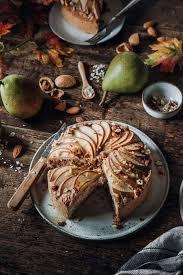 veganer birnenkuchen