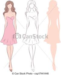 Woman In Dress Vector