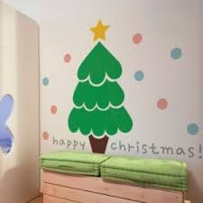 Christmas Tree Amazonca by Cartoon Cute Christmas Tree Decorative Home Wall Sticker Amazon