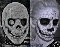 Payday 2 Halloween Masks by Payday2 Makeup Skull Mask Comparison By Xxxtabsxxx On Deviantart