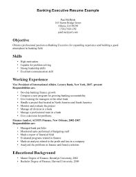 Luxury Banking Executive Sample Resume