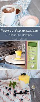 schoko protein tassenkuchen aus der mikrowelle