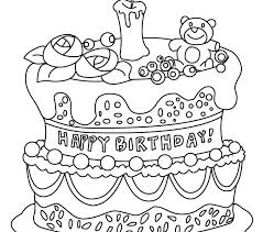 free birthday cake coloring pages to print picture of color kids travel image