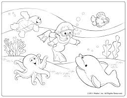 Coloring Page Summer Free Printable Safety Pages Kids