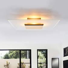 lucande led deckenleuchte lole modern in gold messing aus aluminium ua für wohnzimmer esszimmer 4 flammig a inkl leuchtmittel le