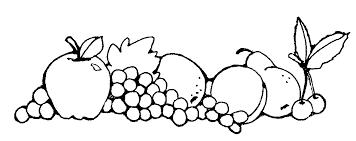 Black & White clipart fruit 2