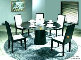 Black Round Dining Set Room Furniture Table Lovely Metal Chairs Ikea