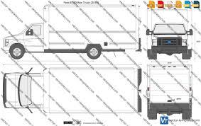 100 Ford Box Truck Templates Cars E350