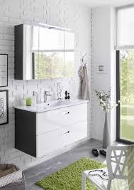 badmöbel set manhattan 2 tlg badezimmer set badmöbel badezimmermöbel in grau abs weiß hochglanz