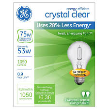 shop ge 2 pack 53 watt dimmable bright white a19 halogen light
