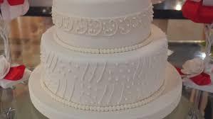Close Up White Wedding Cake
