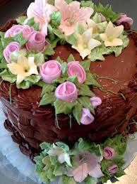 Chocolate Basket Weave Cake with beautiful flower Birthday
