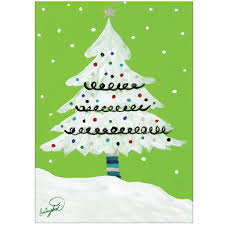 Christmas Tree Glitter Card Toppers 5 Pack