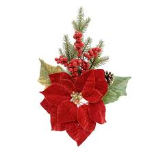 Poinsettia Christmas Decorations Beautiful Purchase The Red Mixed Spray By Ashland At Michaels