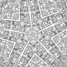 Fantastic Cities Black White