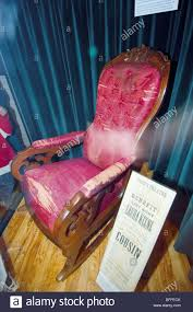 Abraham Lincoln Assassination Rocking Chair. Henry Ford ... Rocking Chair In Lincoln Lincolnshire Gumtree Tells A Story Beyond The Assination Abraham From Fords Theatre Before Cherry Rocker Classic Rock Antiques Lincoln Rocker Arthipstory Showing Photos Of Upcycled Chairs View 1 20 Antique 1890 Victorian Wood Cane Back All Re A 196070s Rocking Designed By Torbjrn President Was Assinated This Today Lincolns Placed Open Plaza Antiquer Reupholstery On Wheels 1880 German Bible My First