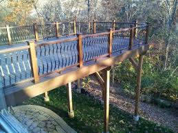 Free Standing Deck Bracing by Help With Sway In A Tall And Long Deck Doityourself Com
