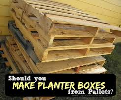 How To Tell If A Pallet Is Safe Use In The Garden PlantersDiy Planter