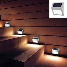 4 pack stainless steel led solar powered pathway light