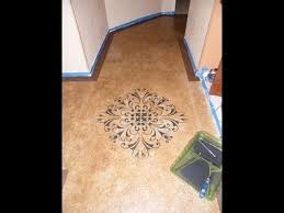 DIY Paint With Concrete Stain Budget Friendly Beautiful Floors