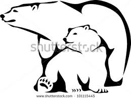 Polar Bear Clipart Mama Pencil And In Color