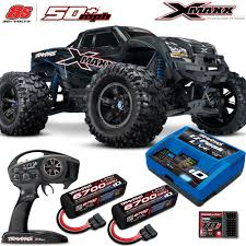 100 Blue Monster Truck Traxxas XMaxx 8S 4WD Brushless WCharger 2x 6700mah