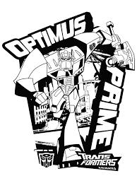 Coloriage Megatron Transformers à Imprimer