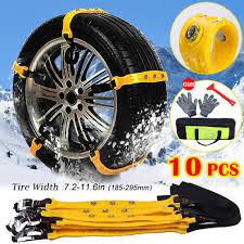 Amazon.com: BiBOSS Car Snow Chains 10 Pcs Anti Slip Tire Chains ...