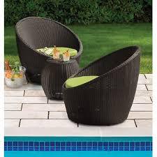 Bjs Outdoor Furniture Cushions by Berkley Jensen Antigua Wicker 3 Piece Set Brown Bj U0027s Wholesale