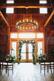 Wedding Ceremony Indoor Setup Barn At Lang Farm Vt Photography