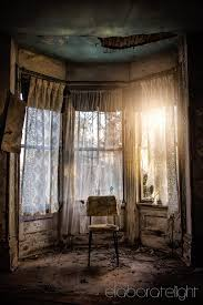 Natural Light In The Bay Window Of An Abandoned Farm House