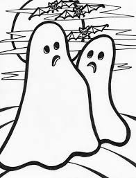 Kids Ghost Coloring Pages