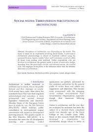 100 Mt Architects PDF Social Media Thirdperson Perceptions Of Architecture