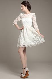 elegant sheer women lace casual dress summer white cocktail party