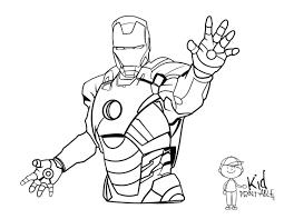 Download Coloring Pages Ironman Free Printable Iron Man Kid