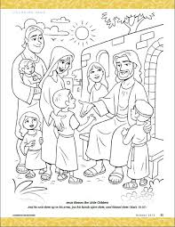 Jesus Blesses The Little Children Coloring Pages Bible