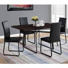 Cappuccino Black Metal Dining Table 36 X 60