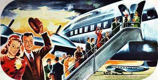 Vintage Travel Airline Ad Airplane Illustration 1940s