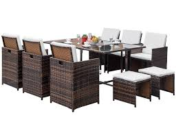 Amazon.com: LZ LEISURE ZONE FLIEKS 11 Piece Patio Furniture Dining ... Pplar Ikea Outdoor Ding Sets Komnit Fniture Set In Alinium European Design Saarinen Round Table Hivemoderncom Compare And Choose Reviewing The Best Teak Patio The Home Depot Hampton Bay Alveranda 7piece Metal With Hanover Monaco 7 Pc Two Swivel Chairs Four Alinum Restaurant Chair 5piece Rectangular Bench Barbeques Galore Styles Stone Harbor Taupe Polywood Official Store