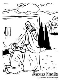 Bible Coloring Pages Jesus Heals A Woman