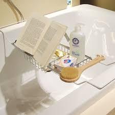 Bathtub Caddy With Reading Rack by Metal Bath Caddy Bathtub Reading Stand Rack Adjustable Wine Book