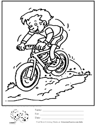 Olympic Colouring Page Mountain Biking Involves A Course That Takes The Bicycle Riders Over Variety Of Terrain But Especially Up And Down Trails