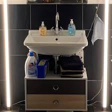 spiegelschrank bad mit beleuchtung b 90xh 82 cm