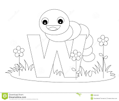 Extremely Creative Animal Alphabet Coloring Pages W Page Royalty Free Stock Image