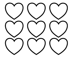 Click To See Printable Version Of Valentines Day Blank Hearts Coloring Page