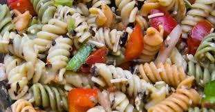 recette facile de salade de pâtes aux trois couleurs
