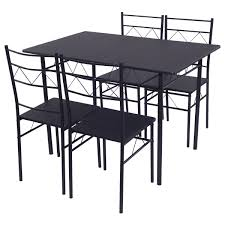 Amazon.com - Shining Dining Table Set 4 Chairs Wood Metal ... Steel Ding Room Chairs Kallekoponnet Modern Narrow Table Set Cute With Photo Of 36 Round Natural Laminate With Xbase And 4 Ladder Back Metal Black Vinyl Seat 2 Ding Tables 8 Chairs In Metal Black Retro Design Square Walnut Grid Barstools Amazoncom Shing Wood Laneberg Svenbertil Brown Lucano Marble Leather Mesmerizing Iron Legs Reclaimed Base 5 Piece Kitchen Tag Archived Of Polyurethane Likable Pcs Table